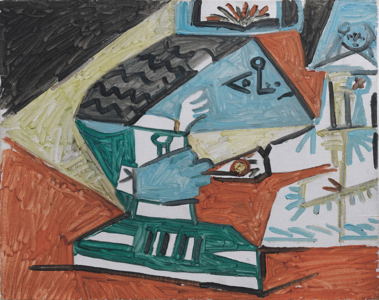 Картина Пабло Пикассо. Менины (Менины (Мария Агустина Сармьенто и инфанта Маргарита Мария). Интерпретация № 20. 17 сентября 1957