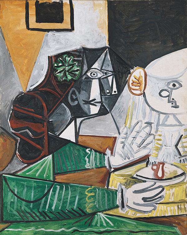 Картина Пабло Пикассо. Менины (Мария Агустина Сармьенто и инфанта Маргарита Мария). Интерпретация № 28. 10 октября 1957
