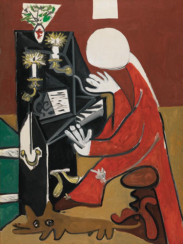 Картина Пабло Пикассо. Менины (Пианино). Интерпретация № 31. 17 октября 1957