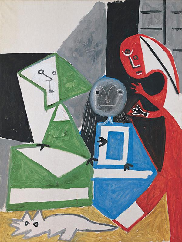 Картина Пабло Пикассо. Менины (Изабелла де Веласко, Мария Барбола и Николас Пертусато). Интерпретация № 34. 24 октября 1957