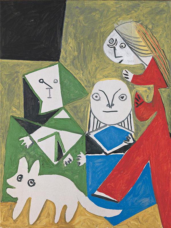 Картина Пабло Пикассо. Менины (Изабелла де Веласко, Мария Барбола и Николас Пертусато). Интерпретация № 35. 24 октября 1957