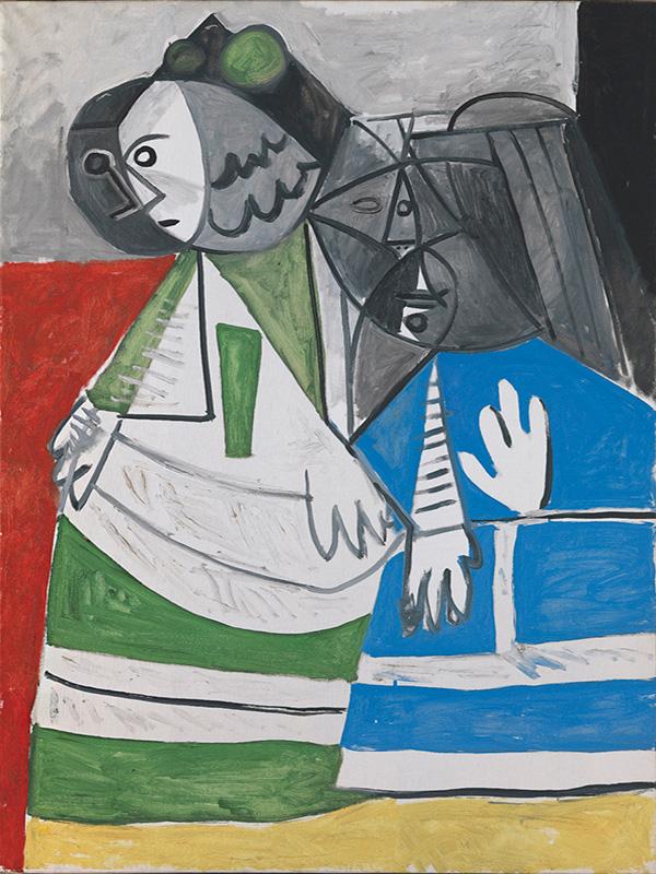 Картина Пабло Пикассо. Менины (Изабелла де Веласко и Мария Барбола). Интерпретация № 36. 8 ноября 1957