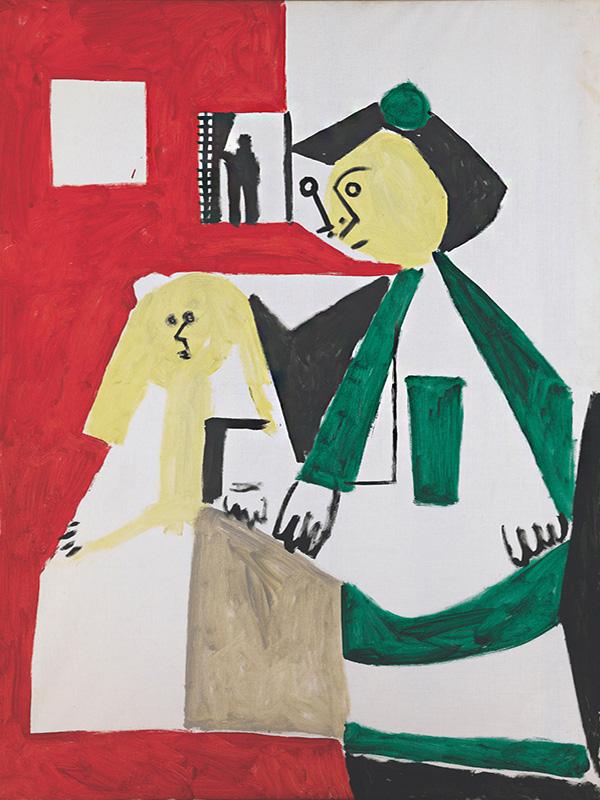 Картина Пабло Пикассо. Менины (инфанта Маргарита Мария и Изабелла де Веласко). Интерпретация № 37. 15 ноября 1957