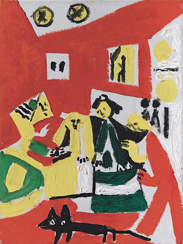 Картина Пабло Пикассо. Менины. Интерпретация № 39. 17 ноября 1957