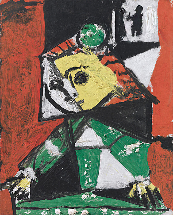 Картина Пабло Пикассо. Менины (Изабелла де Веласко). Интерпретация № 42. 17 ноября 1957