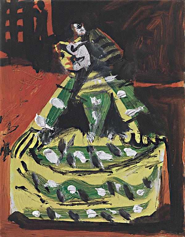 Картина Пабло Пикассо. Менины (Изабелла де Веласко). Интерпретация № 43. 17 ноября 1957