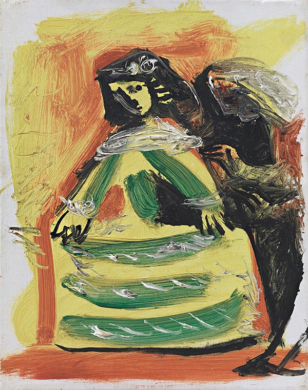 Картина Пабло Пикассо. Менины (Изабелла де Веласко и Николас Пертусато). Интерпретация № 44. 17 ноября 1957