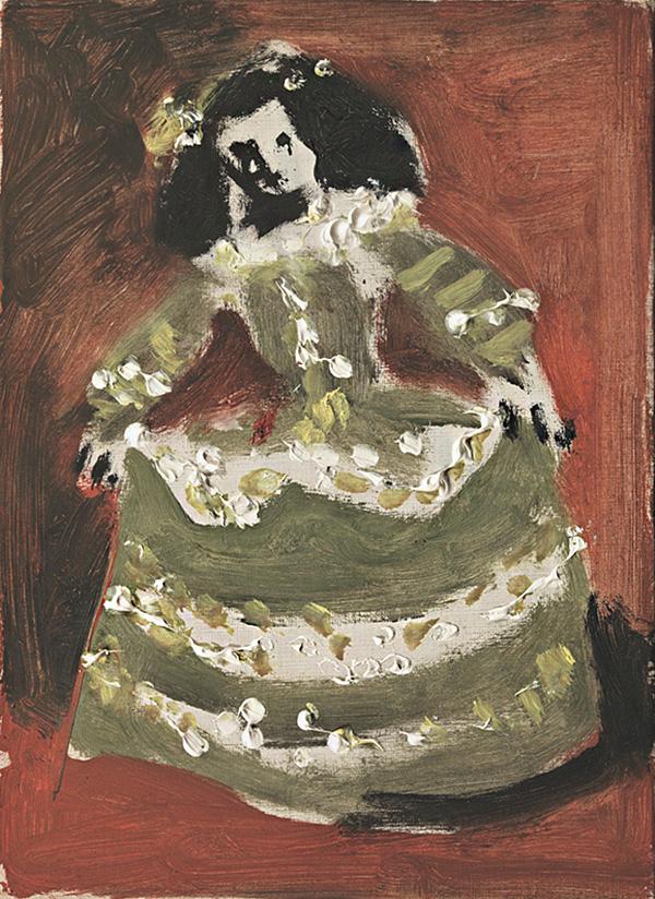 Картина Пабло Пикассо. Менины (Изабелла де Веласко). Интерпретация № 46. 30 декабря 1957