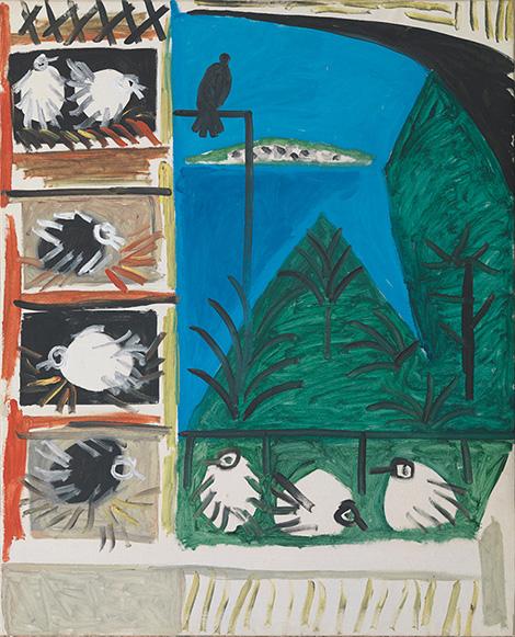 Картина Пабло Пикассо. Голуби (4). 7 сентября 1957