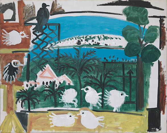 Картина Пабло Пикассо. Голуби (5). 7 сентября 1957