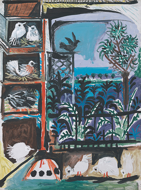 Картина Пабло Пикассо. Голуби (6). 11 сентября 1957