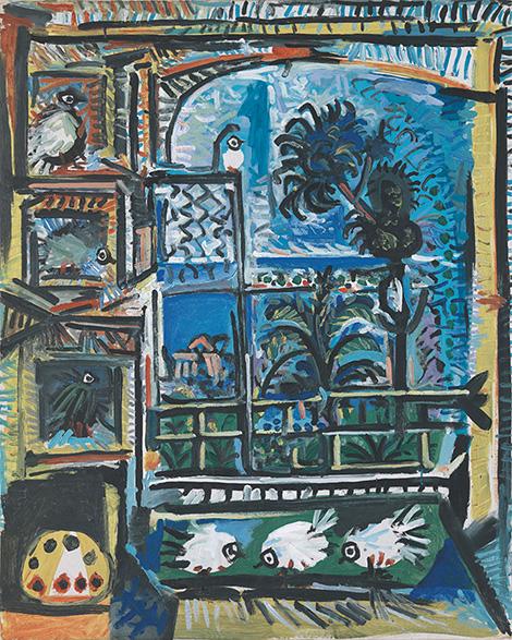 Картина Пабло Пикассо. Голуби (7). 12 и 14 сентября 1957