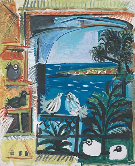 Картина Пабло Пикассо. Голуби (8). 12 сентября 1957