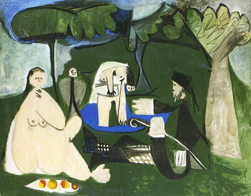 Картина Пабло Пикассо. Завтрак на траве, по Мане. 27 февраля 1960