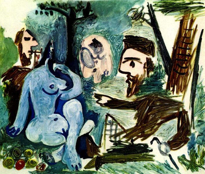 Картина Пабло Пикассо. Завтрак на траве, по Мане. 18 июня 1961