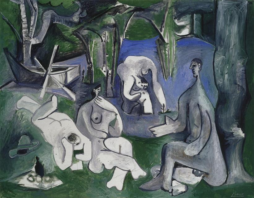 Картина Пабло Пикассо. Завтрак на траве, по Мане. 10 июля 1961