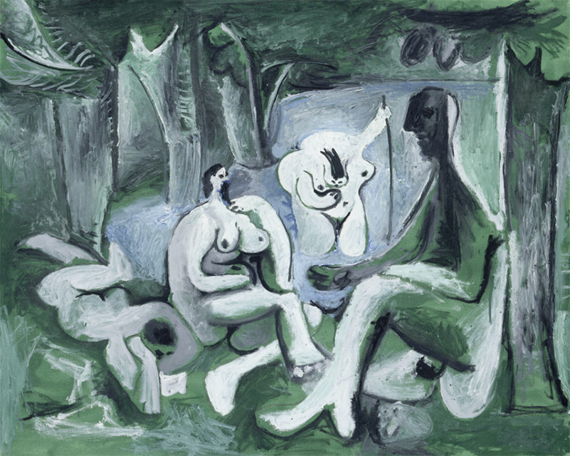 Картина Пабло Пикассо. Завтрак на траве, по Мане. 12 июля 1961