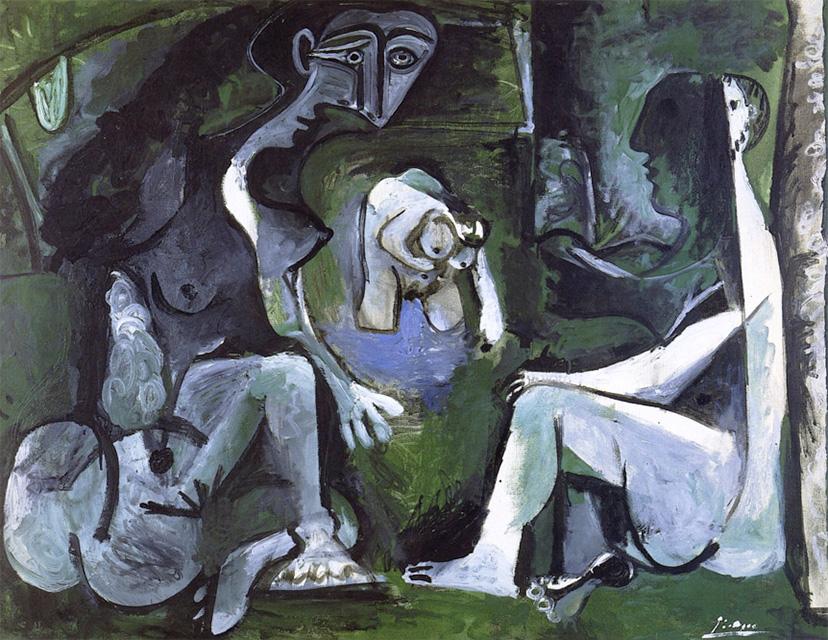 Картина Пабло Пикассо. Завтрак на траве, по Мане. 16 июля 1961
