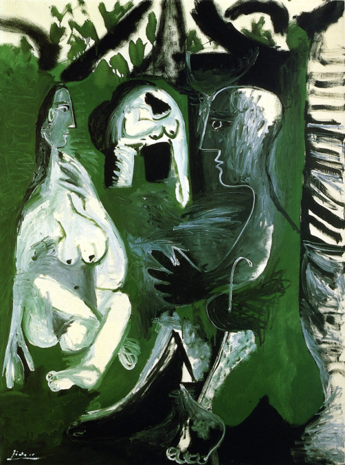 Картина Пабло Пикассо. Завтрак на траве, по Мане. 30 июля (1) 1961