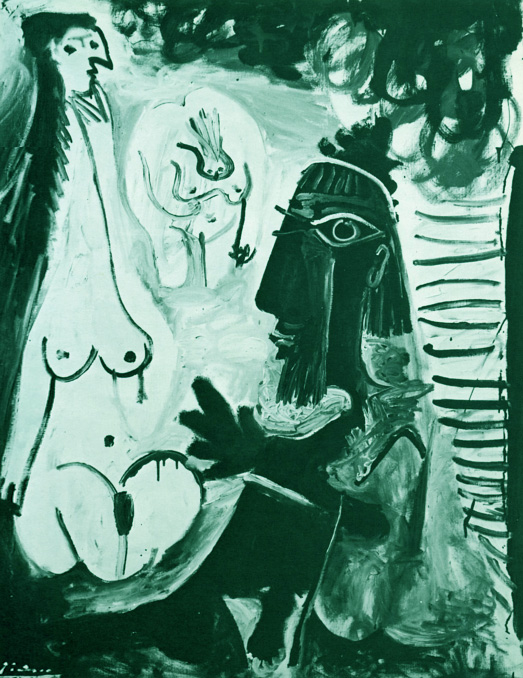 Картина Пабло Пикассо. Завтрак на траве, по Мане. 31 июля (3) 1961