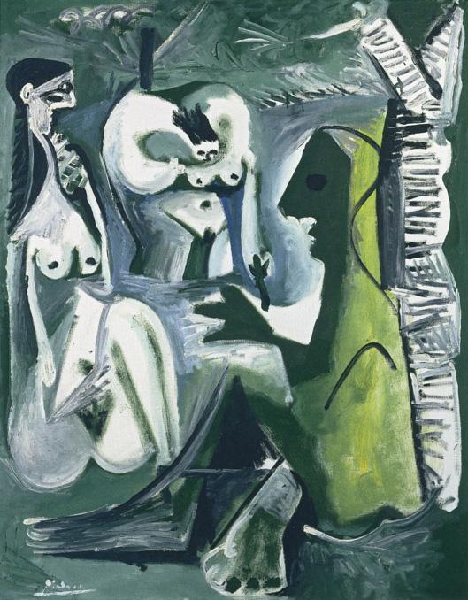 Картина Пабло Пикассо. Завтрак на траве, по Мане. 10 августа (1) 1961