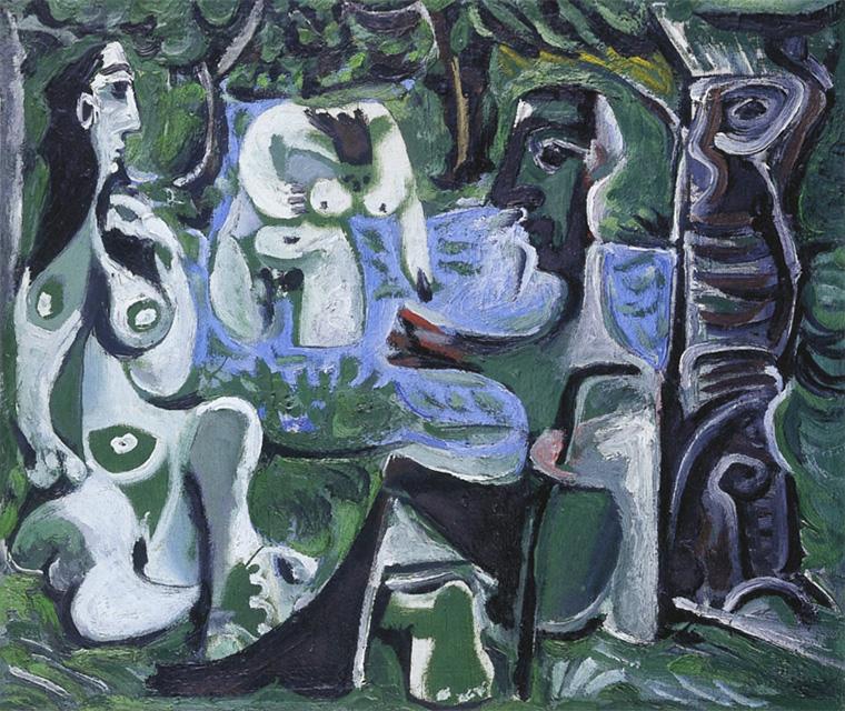 Картина Пабло Пикассо. Завтрак на траве, по Мане. 10 августа (2) 1961