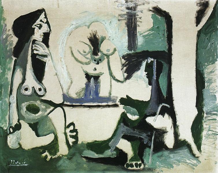 Картина Пабло Пикассо. Завтрак на траве, по Мане. 19 августа 1961