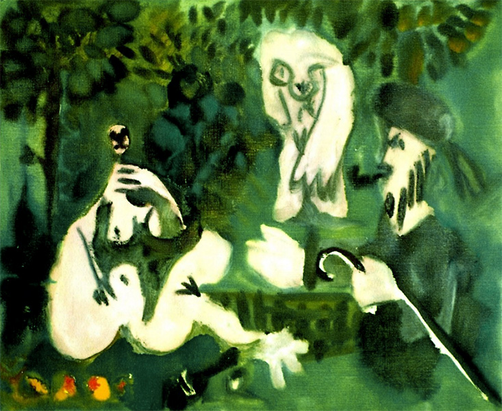 Картина Пабло Пикассо. Завтрак на траве, по Мане. 28 февраля  (2) 1960