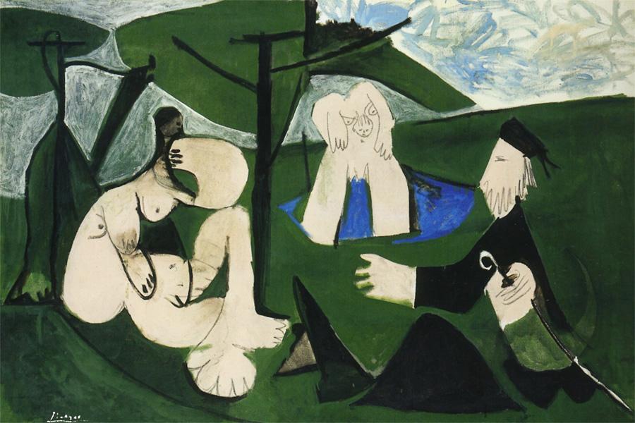Картина Пабло Пикассо. Завтрак на траве, по Мане. 29 февраля 1960