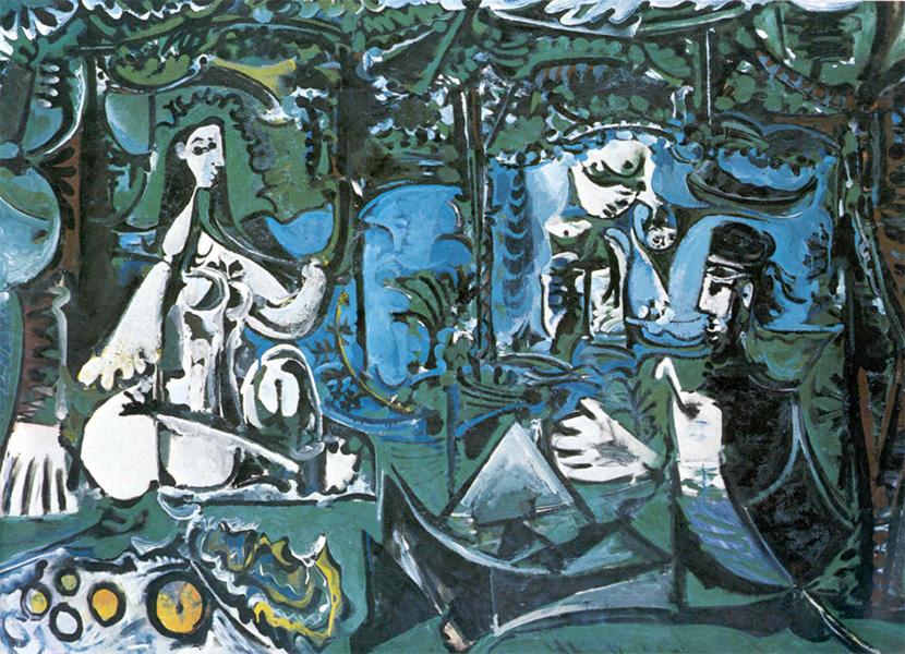 Картина Пабло Пикассо. Завтрак на траве, по Мане. 20 августа 1960