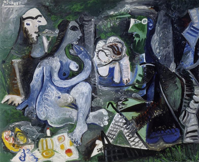 Картина Пабло Пикассо. Завтрак на траве, по Мане. 17 июня 1961