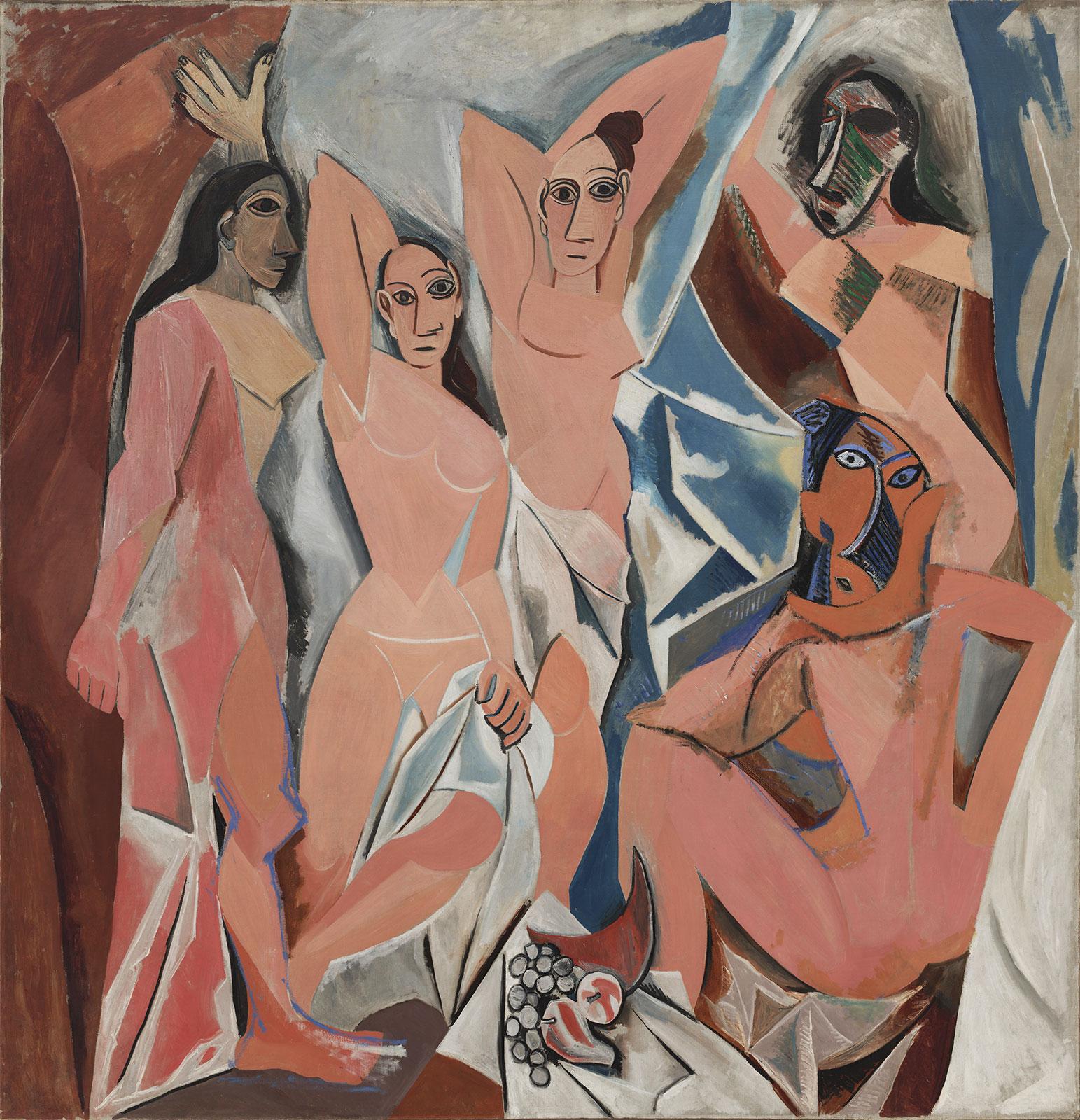 Картина Пабло Пикассо. Авиньонские девицы. 1907