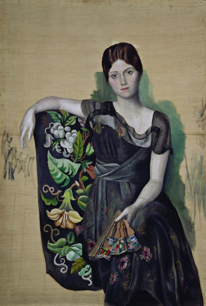 Картина Пабло Пикассо. Портрет Ольги в кресле. 1917