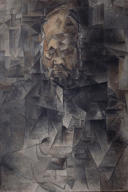 Картина Пабло Пикассо. Портрет Амбруаза Воллара. 1910