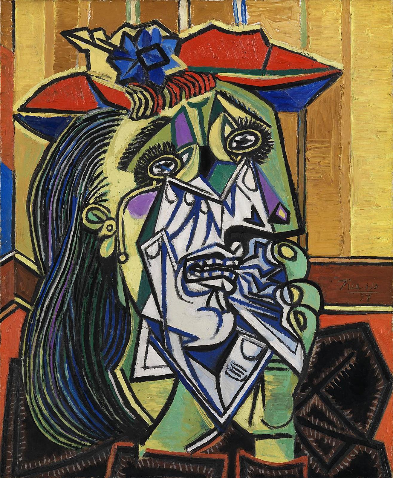 Картина Пабло Пикассо. Плачущая женщина (Дора Маар). 1937