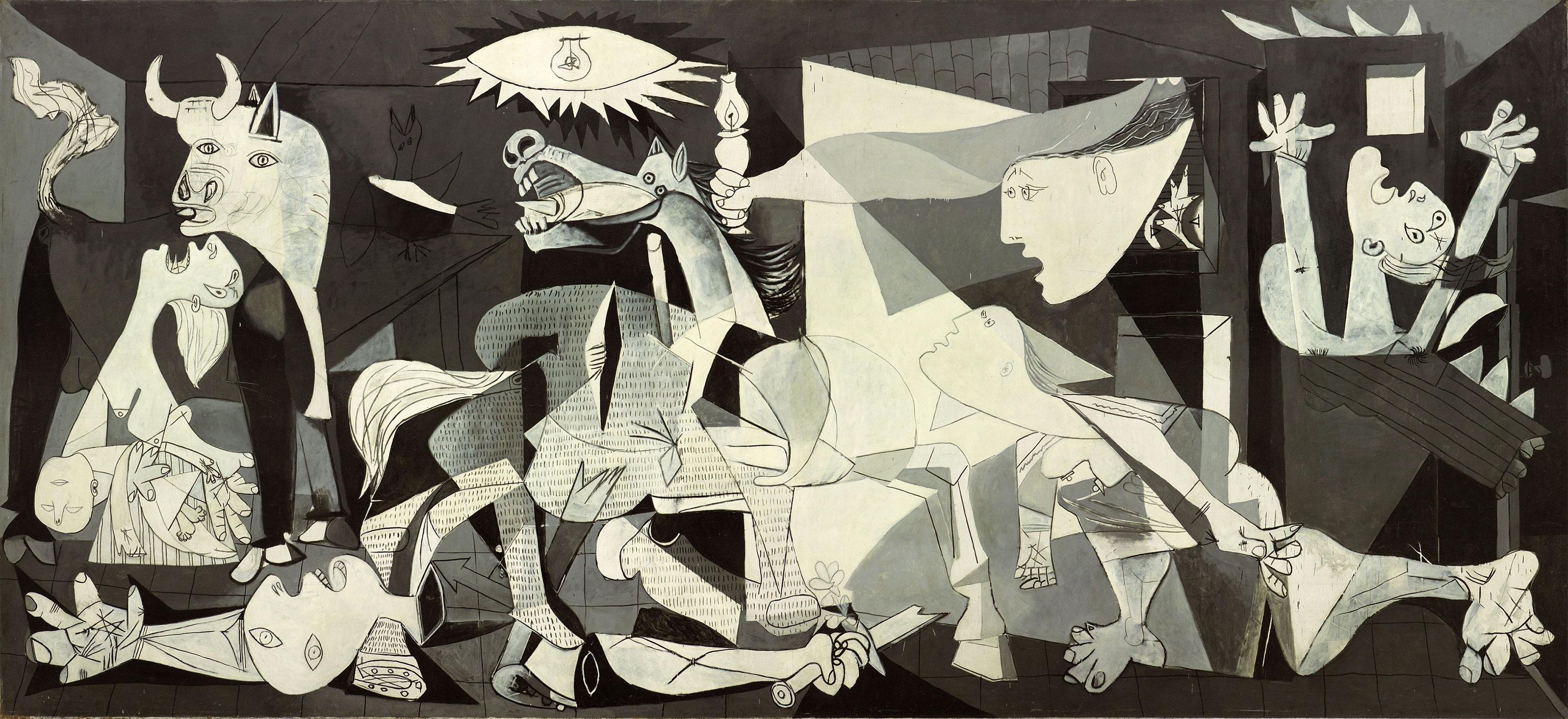 Картина Пабло Пикассо. Герника. 1937