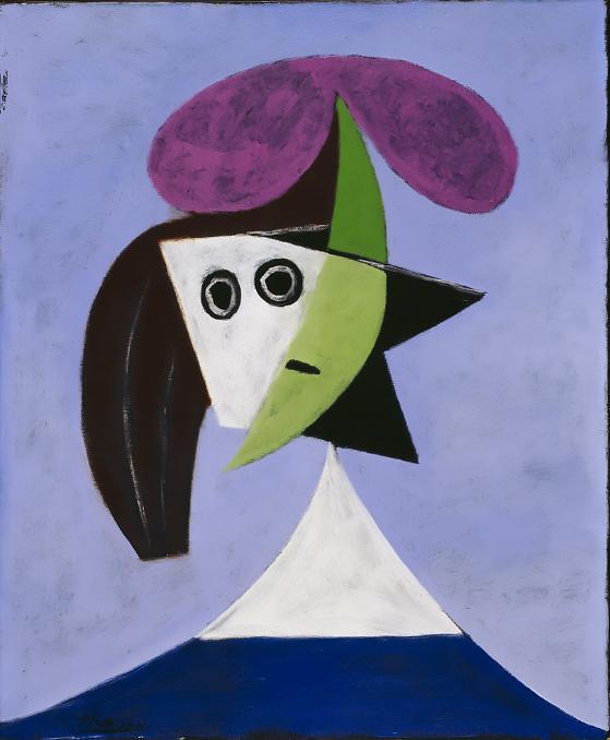 Картина Пабло Пикассо. Женщина в шляпе (Ольга). 1935